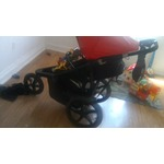 Baby Trend cardinal red jogging stroller