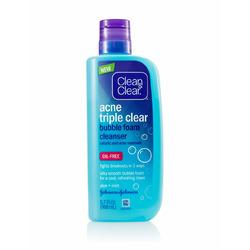 Clean & Clear Acne Triple Clear Bubble Foam Cleanser