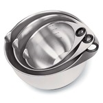 Pampered Chef Stainless Steel Mixing Bowl Set