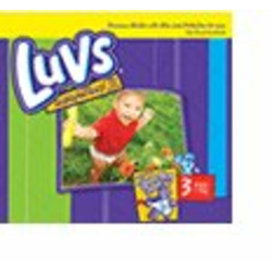LUVS ULTRA LEAD GUARDS BABY DIAPERS SIZE 3 (16 TO 28 LB.) 3/68=204CS