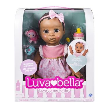 Luvabella Responsive Baby Doll - Dark Brown Hair