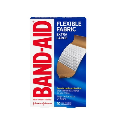 BAND-AID® Brand Adhesive Bandages Flexible Fabric Extra Large, 10 count