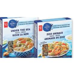 blue menu under the sea pasta