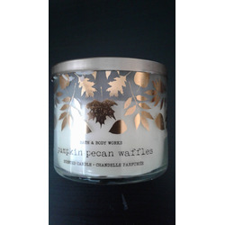 Bath and Body Works-3 wick Pumpkin Pecan Waffle candle