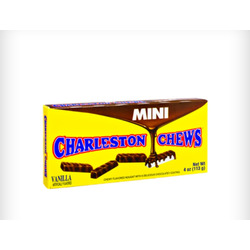 Charleston Chews Mini Vanilla Chewy Flavored Chocolate Nougats