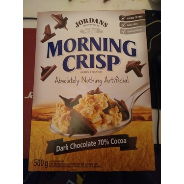 Jordan's morning crisp cereal dark chocolate