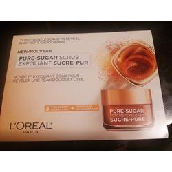 L'OREAL pure-sugar scrub