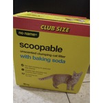 No Name Scoopable Unscented Clumping Cat Litter with Baking Soda