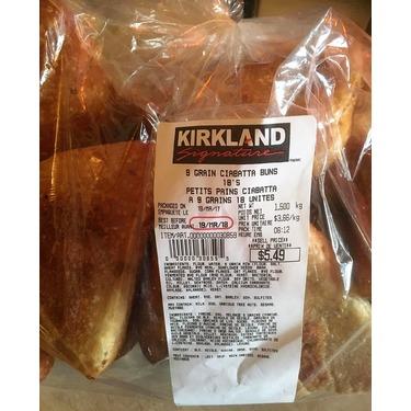 Kirkland Signature 9 Grain Ciabatta Buns
