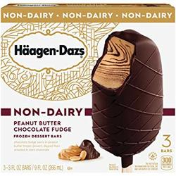 Haagen dazs non-dairy peanut butter fudge frozen dessert bars