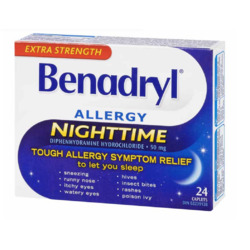 Benadryl Allergy Nighttime Caplets