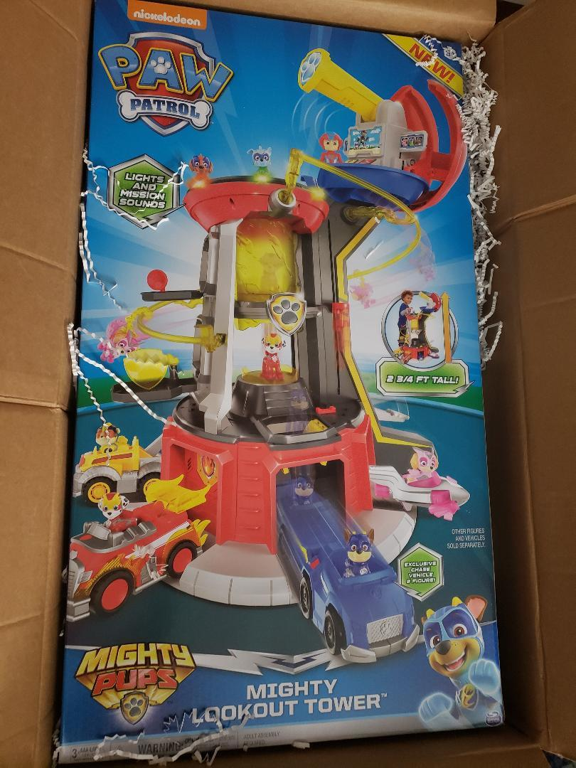 Super Paws Lookout Tower Paw Patrol Mighty Pups Playset with Lights and Sounds