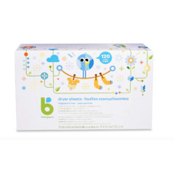 Babyganics Dryer Sheets, Fragrance Free