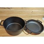 Cuisinel Pre Seasoned Cast Iron Skillet and Double Dutch Oven Set