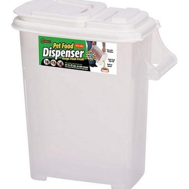 Buddeez Medium 12pound Dry Pet Food Plastic Storage Container with Flip Lid and Pour Spout