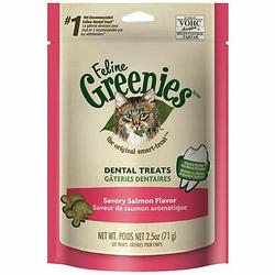 Feline Greenies Dental treats Savory Salmon