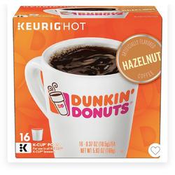 Dunkin' Donuts hazelnut coffee