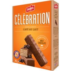 Leclerc Celebration Wafer Cookies - Café au Lait