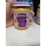 Heinz baby food on glass jar