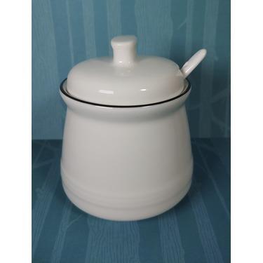 MUZITY Porcelain Salt Bowl with Lid