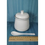 MUZITY Porcelain Salt Bowl with Lid