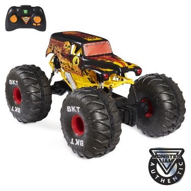Monster Jam Official Fire & Ice Mega Grave Digger All-Terrain Remote Control Monster Truck