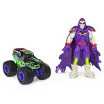 Monster Jam Official Grave Digger Monster Truck and 5-inch Grim Action Figure Set