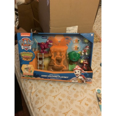 PAW Patrol Dino Rescue Volcano Playset with Zipline and 3 Exclusive Figures