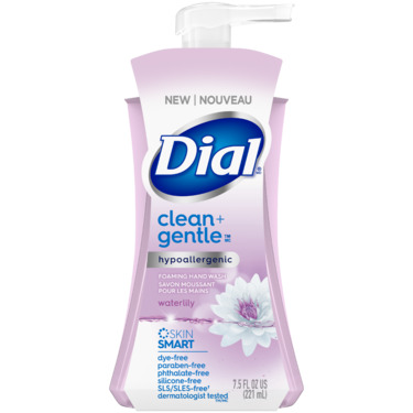 Dial® Clean + Gentle Waterlily Foaming Hand Wash