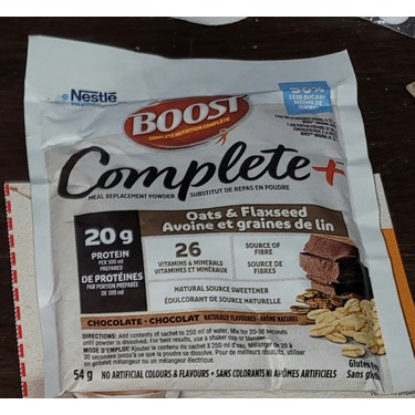 Boost complete chocolate oat & flaxseed