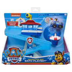 PAW Patrol Adventure Bay Bath Playset with Light-up Chase Vehicle