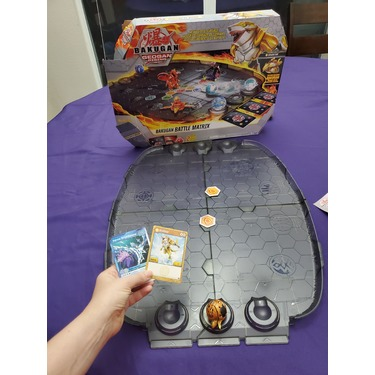 Bakugan Battle Matrix Deluxe Game Board with Exclusive Gold Sharktar Bakugan