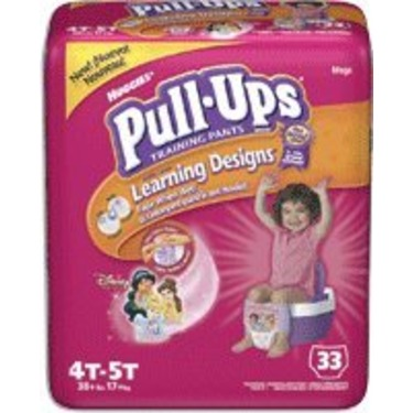 Huggies Pull-Ups Training Pants for Girls with Learning Designs, Size 2 4T-5T