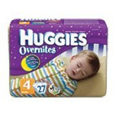 Huggies Overnites Diapers Size 4 (22-37 Lbs) Jumbo Pack , 27 Diapers