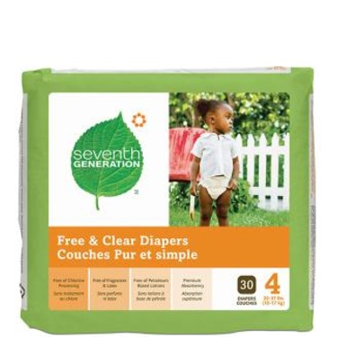 Seventh Generation Baby Diapers - Size 1