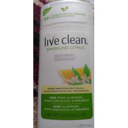 Live clean deodorant sparkling citrus