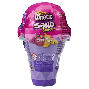 Kinetic Sand Scents Ice Cream Cone with 2 Colors of Scented Kinetic Sand (4 oz)