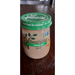 Beech Nut Naturals pear baby food