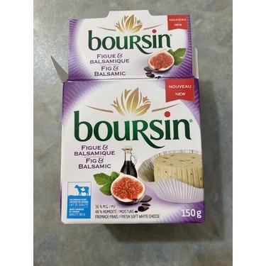 Boursin fig & balsamic soft white cheese