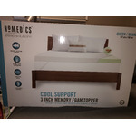 Homedics Memory Foam Cooling Mattress Topper