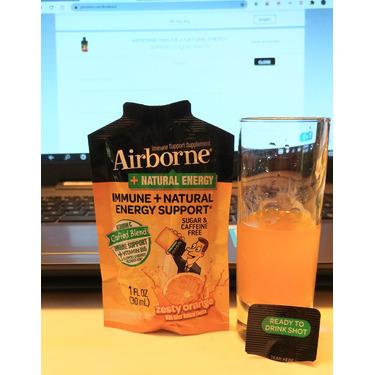 AIRBORNE IMMUNE + NATURAL ENERGY SUPPORT* LIQUID SHOTS