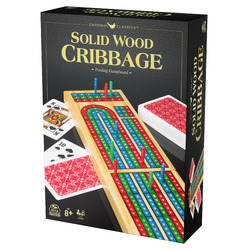 Solid Wood Cribbage Folding Gameboard Game