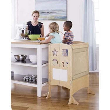 Guidecraft kitchen helper stool with two keepers