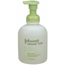 Johnson's Kids Natural 2-in-1 hand & face foaming wash, 10-Ounce (Pack of 3)