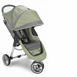 Baby Jogger City Mini Single Stroller - Green/Grey