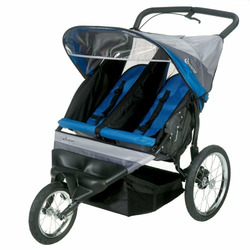 InStep Run Around 2 Double Jogging Stroller (Royal Blue/Grey)