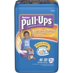 PULL-UPS BOYS TRAINING PANTS, 4T-5T, 38+ LBS, 76/CS, KIC21331