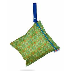 Bummis Fabulous Organic Wet Diaper Bag, Green, Medium