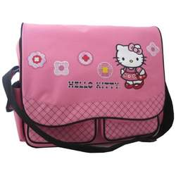 Hello Kitty Diaper Bag with Plaid Trim, Pink
