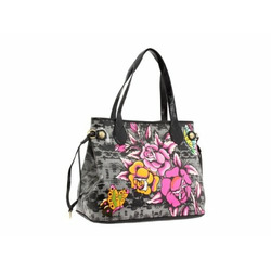 Ed Hardy Purse Tote Bag Diaper Bag Coming up Roses w/ Swarovski Crystal Bling